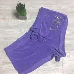 EUC Purple Terrycloth Shorts by Pink